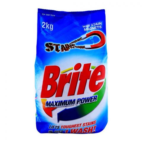 Brite Maximum Power Detergent Powder 2 KG