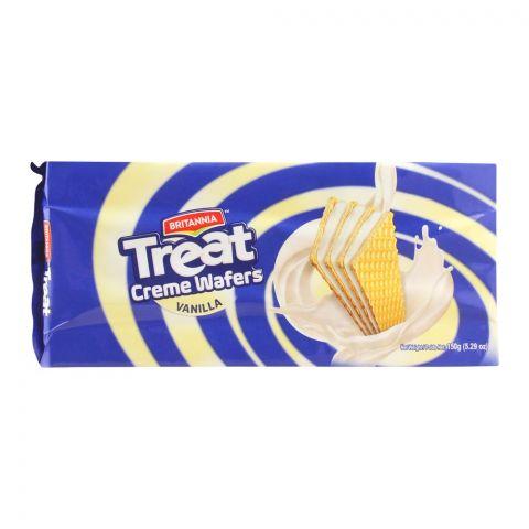 Britannia Treat Creme Wafers, Vanilla, 150g