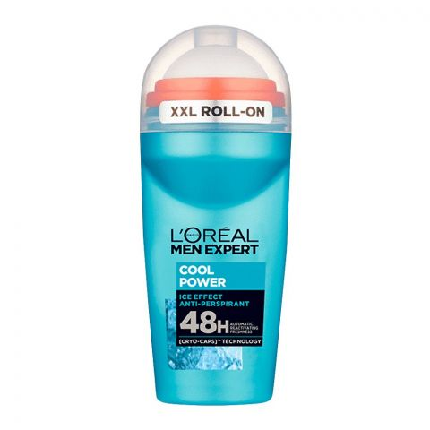 L'Oreal Paris Men Expert Cool Power 48H Ice Effect Anti-Perspirant Roll On, 50ml