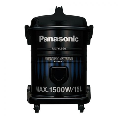 Panasonic Tough Style Plus Vacuum Cleaner, 1500W, Black/Blue, 15L, MC-YL690