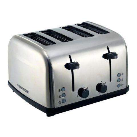 Black & Decker 4 Slice Toaster, 1800 Watts, ET304