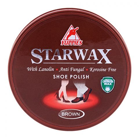 Yuppies Star Wax Shoe Polish Brown 48ml