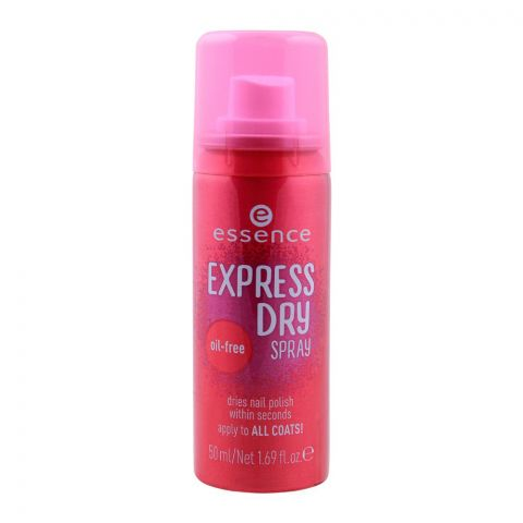 Essence Express Dry Spray, Dries Nail Polish, Oil Free, 50ml