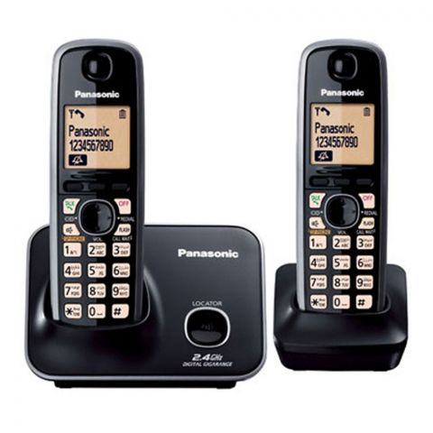 Panasonic 2.4GHz Digital Cordless Phone, Black, KX-TG3712BX