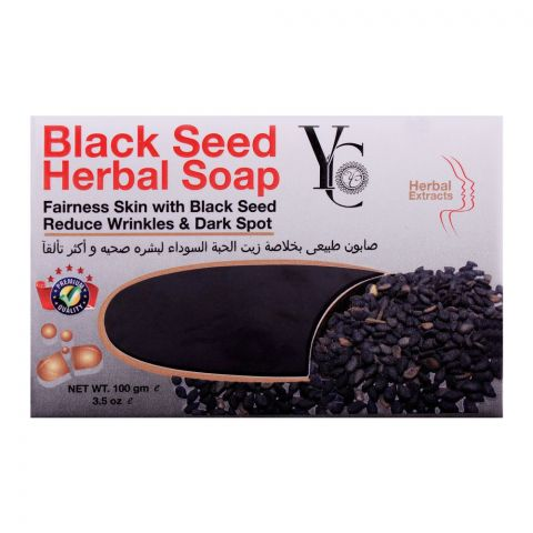 YC Balck Seed Herbal Soap, Reduce Wrinkle & Dark Spot, 100g