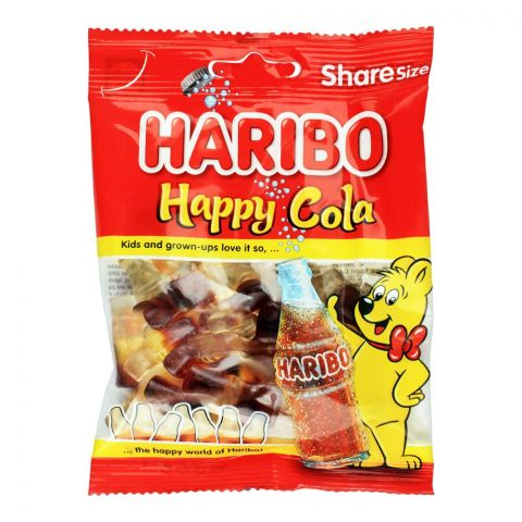 Haribo Happy Cola Jelly, Share Size Pouch, 80g