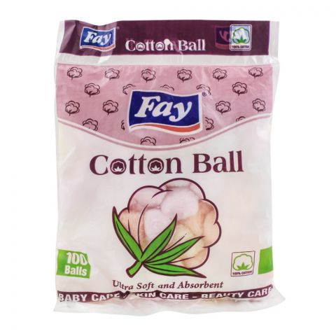 Fay Cotton Balls, 100-Pack