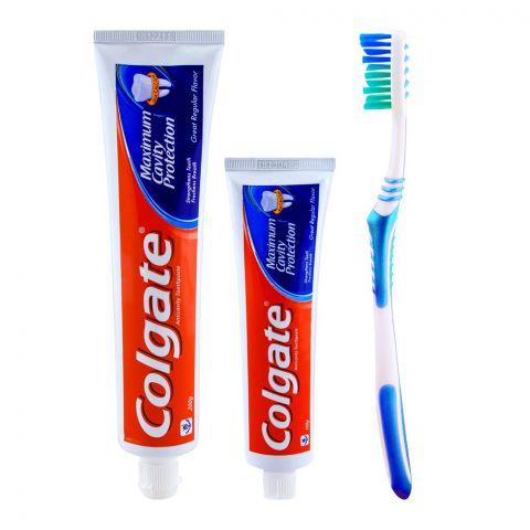 Colgate Maximum Cavity Protection Great Regular Flavor Toothpaste 200gm +100gm