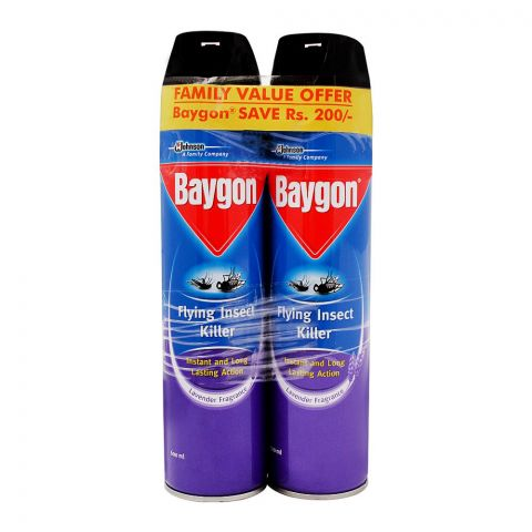 Baygon Flying Insect Killer Spray Saver Pack, 2x600ml