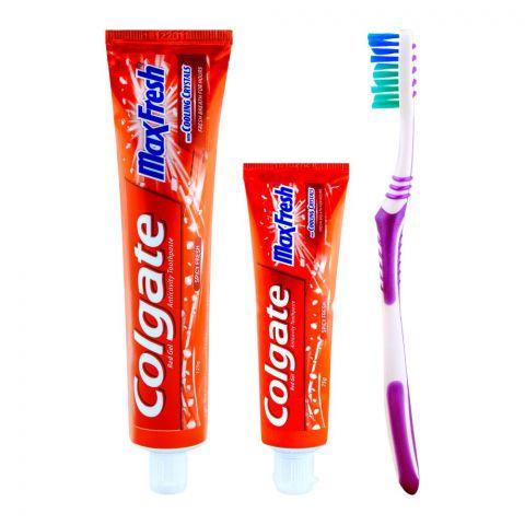 Colgate MaxFresh Red Gel Spicy Fresh Toothpaste 125gm+75gm
