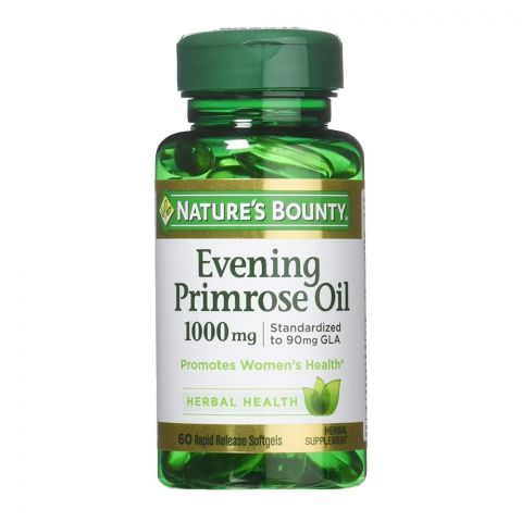 Nature's Bounty Evening Primrose Oil, 1000mg, 60 Softgels