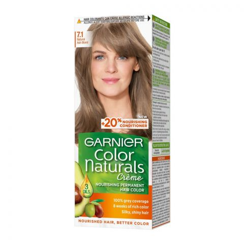 Garnier Color Naturals Creme Hair Colour, 7.1 Naturals Ash Blond