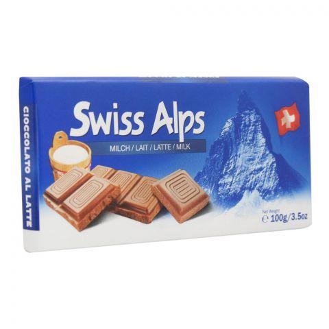 Swiss Alps Milk Chocolate Bar, 100g