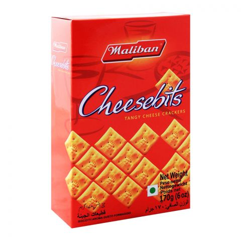 Maliban Cheesebits Tangy Cheese Crackers, 170g