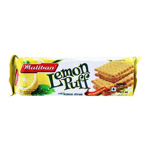 Maliban Lemon Puff Biscuit, With Lemon Cream, 200g