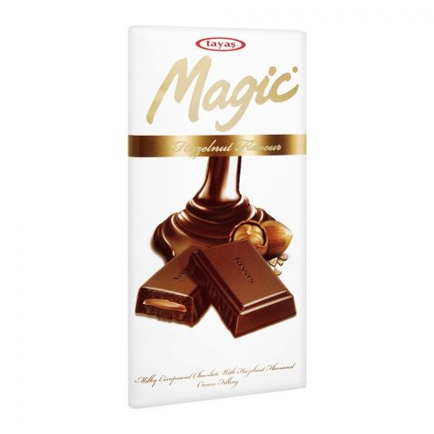 Tayas Magic Hazelnut Chocolate Bar, 80g