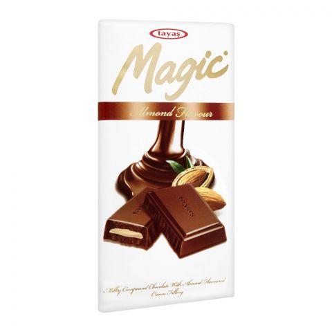 Tayas Magic Almond Chocolate Bar, 80g