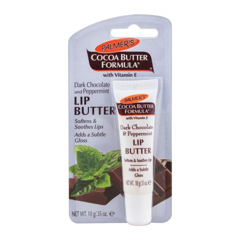 Palmer's Lip Butter, Cocoa Butter Formula, Dark Chocolate And Peppermint, 10g