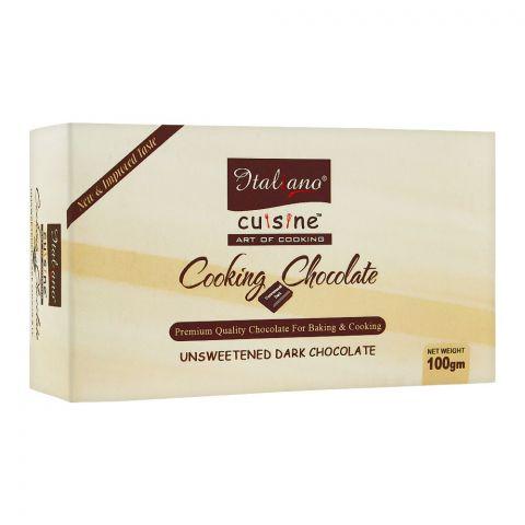 Italiano Cooking Chocolate, Unsweetened Dark Chocolate, 100g