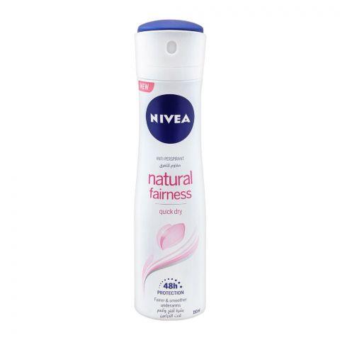 Nivea 48H Natural Fairness Anti-Perspirant Deodorant Spray, For Women, 150ml