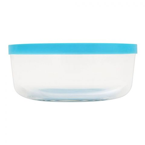 Borgonovo Igloo Glass Bowl With Lid, Round, 18x5.9 Inches, No. 2