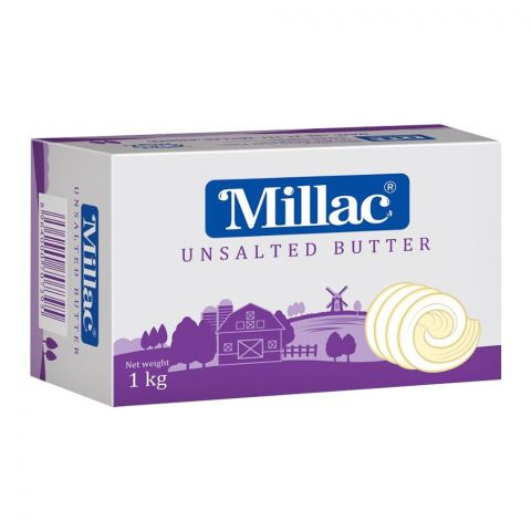 Millac Butter, Unsalted, 1 KG
