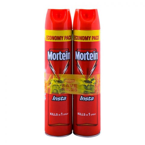 Mortein Bundle, Insta All Insect Killer, 2x600ml, Save Rs. 25