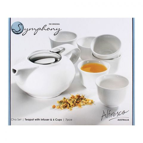 Symphony Teapot With Infuser & 6 Cups SY-4331