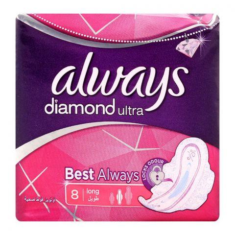 Always Diamond Ultra Long 8 Pads