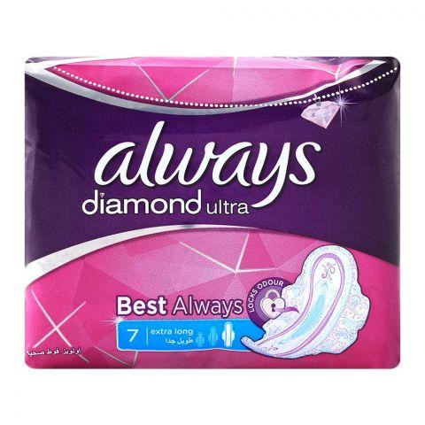 Always Diamond Ultra Extra Long 7 Pads