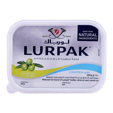 Lurpak Olive Oil Lighter Spreadable Butter 250g