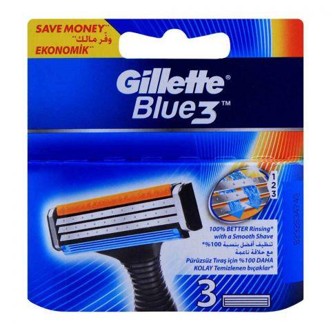 Gillette Blue 3 Cartridges, Razor Blades, 3-Pack