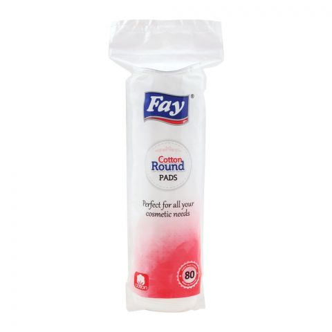 Fay Cotton Rounds Pad, 80-Pack