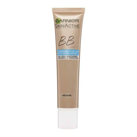Garnier Skin Active BB Cream, Medium, Combination to Oily Skin, 40ml