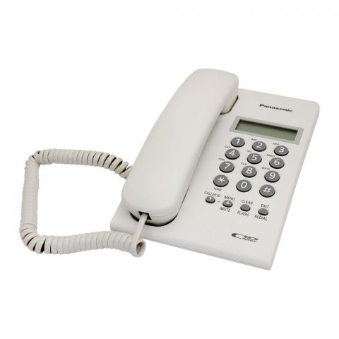 Panasonic Digital Corded Phone, White, KX-SC60SX