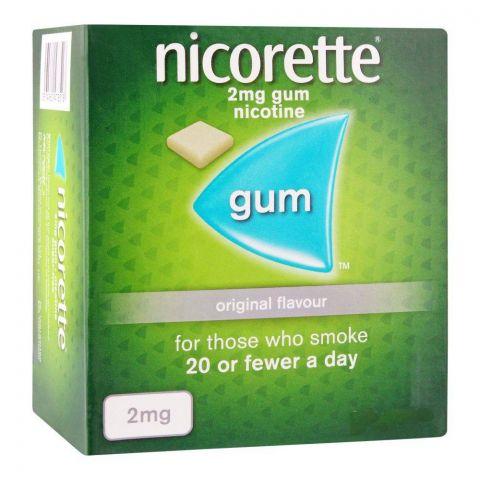 Nicorette Original Flavour Gum, 2g, 1 Strip (15 Tablets)