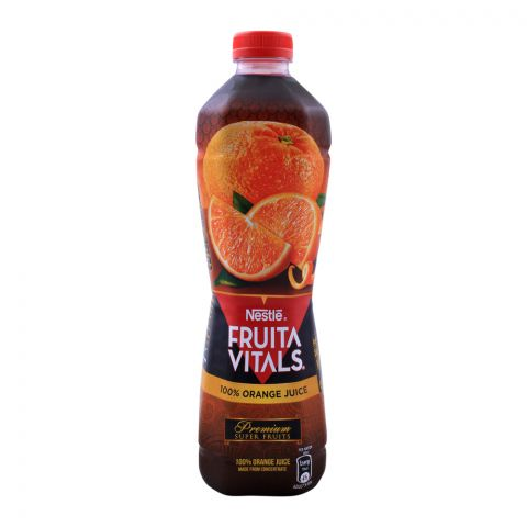 Nestle Fruita Vitals 100%  Orange Juice,  1 Liter