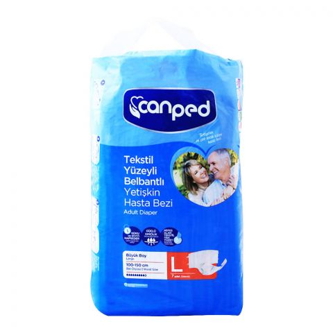 Canped Adult Diaper, Large, 100-150cm, 7-Pack