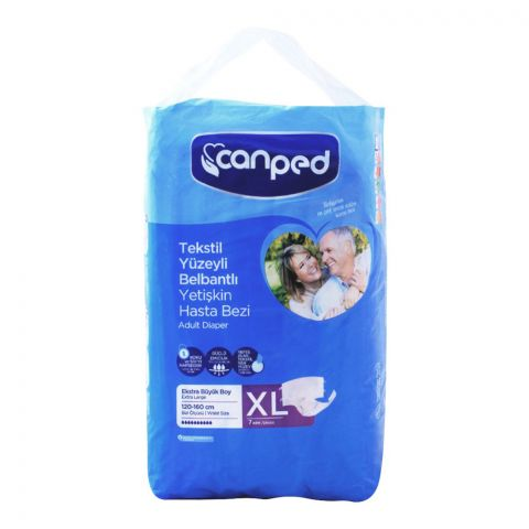 Canped Adult Diaper, Extra Large, 120-160cm, 7-Pack