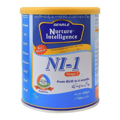 Nuture Intelligence NI-1, Stage 1, Infant Formula, 400g