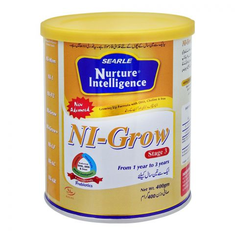 Searle Nuture Intelligence NI-Grow, Stage 3, Growing Up Formula, 400g