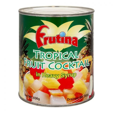 Frutina Tropical Fruit Cocktail, In Heavy Syrup, 836g