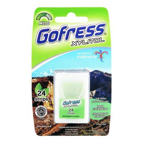 Gofress Oral Care Strip, Spearmint, Mild, 24-Pack