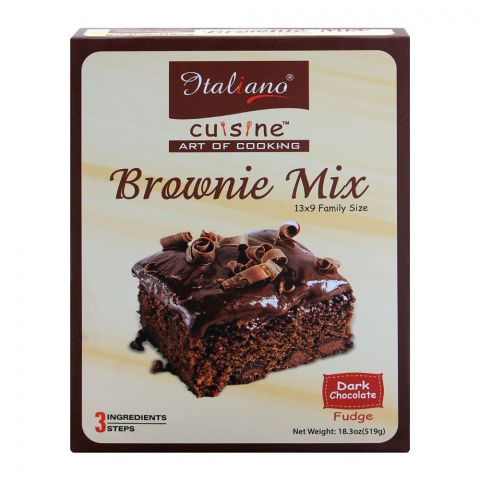 Italiano Brownie Mix, Dark Chocolate Fudge, 519g