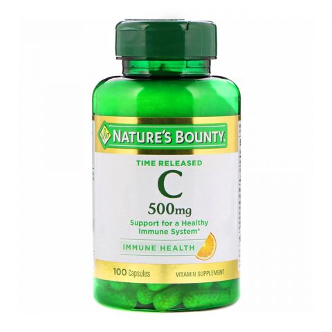 Nature's Bounty Vitamin C, 500mg, 100 Tablets, Vitamin Supplement