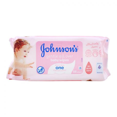 Johnson's Baby Gentle Cleansing All Over Wipes, 56-Pack