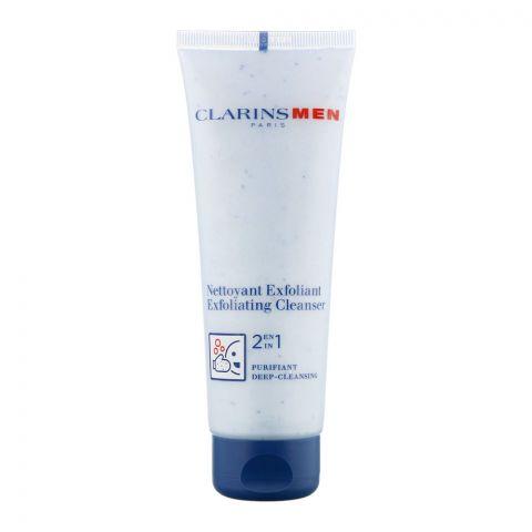 Clarins Paris Men 2-In-1 Deep-Cleansing Exfoliating Cleanser, 125ml