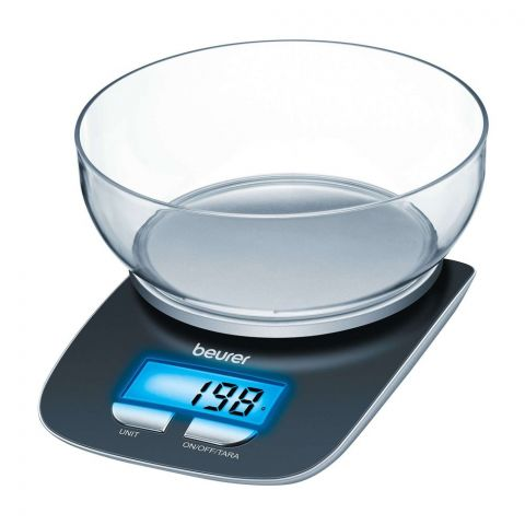 Beurer Kitchen Scale, With Bowl and Illuminated Display, KS 25