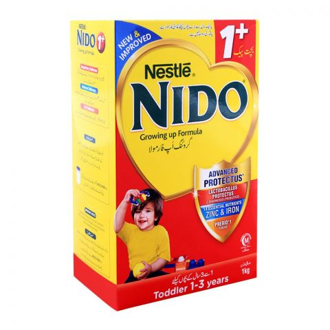 Nestle Nido 1+ Growing-Up Formula, 1 KG Economy Pack