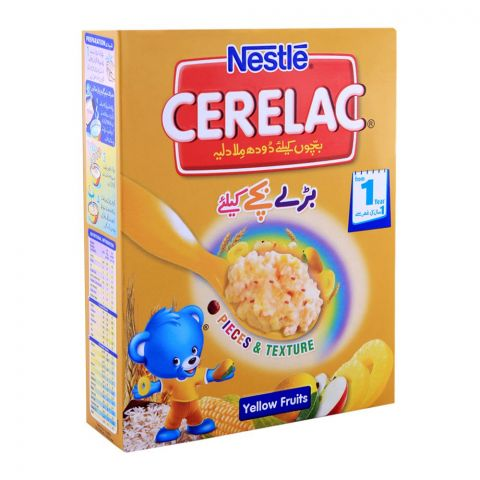Nestle Cerelac Yellow Fruits, 1+ Years, 175g